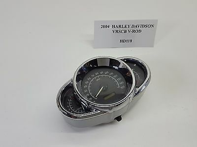 2004 Harley VRSC VRSCB V-Rod Speedometer Gauges Tacho 29K VIDEO 01-06 HD110