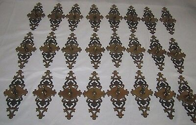 Vintage 1967 Amerock Antiqued Brass Coated Cabinet Door Pulls