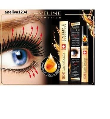 Eveline SOS with Argan Oil Lash Booster -Multi-Purpose Eyelash Serum 5in1