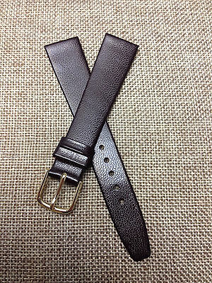 18mm  GENUINE CALF  DARK BROWN  HIGH QUALITY  VINTAGE  WATCH BAND  NEW OLD STOCK
