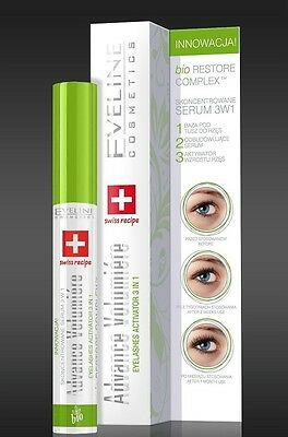EVELINE Cosmetics Eyelashes Concentrated Serum Mascara Primer 3 w 1 TOP PRODUCT
