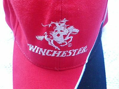 Winchester Black and Red Shooting Cap. Clay Pigeon, Rifle. New