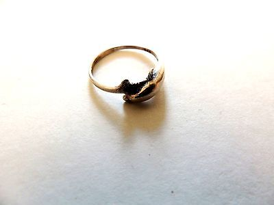 """Vintage Classic Sterling Silver """"Dolphin"""" Ring Size 5"""