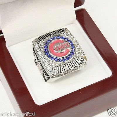 2016 Chicago Cubs World Series Ring Bryant Sizes 8-14 USA Seller WOOD BOX