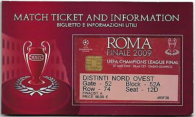 MANCHESTER UNITED v BARCELONA Champions League Final 2009 MATCH TICKET Booklet 1