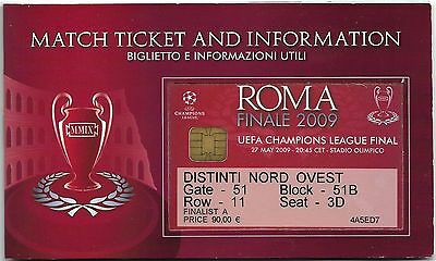 MANCHESTER UNITED v BARCELONA Champions League Final 2009 MATCH TICKET Booklet 2