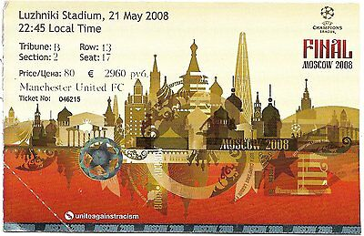 MANCHESTER UNITED v CHELSEA Champions League Final 2008 MATCH TICKET Original #1