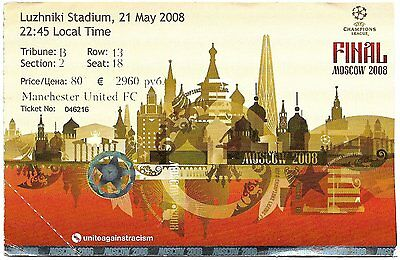 MANCHESTER UNITED v CHELSEA Champions League Final 2008 MATCH TICKET Original #2