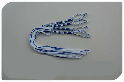 TZIT TZIT BLUE & WHITE - MESSIANIC  TZITZIT  TZITZIOT Braided Loop, USA made
