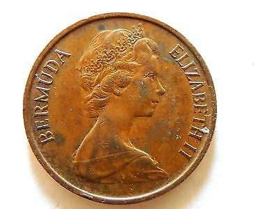 1971 Bermuda One (1) Cent Coin