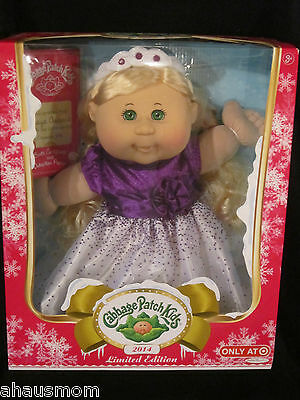 Cabbage Patch Kids 2014 Limited Edition Target Exclusive Holiday Doll Blonde Bn