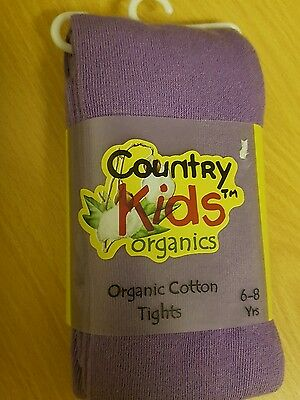 Country Kids Organic Tights-NEW- Lilac - 6-8yrs