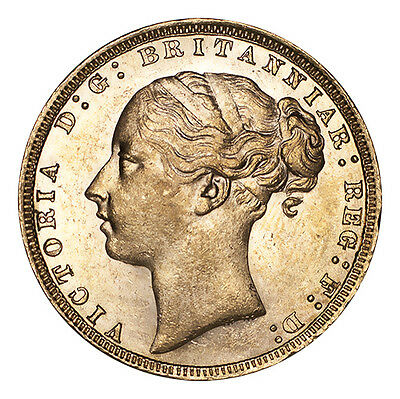 Great Britain Gold Coin Victoria 1871 Gold Sovereign AUNC