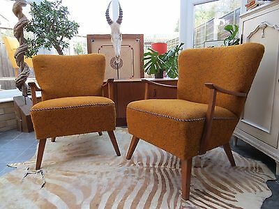 Pair Of Vintage East German Bartholomew Cocktail Arm Chairs C1965 N16-3