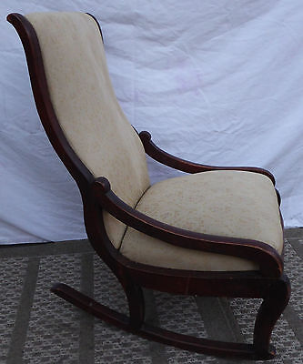 Vintage Antique Hand Carved Mahogany Child's rocking Chair
