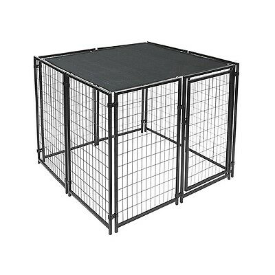 ALEKO Dog Kennel Shade Cover with Aluminum Grommets 5 x 10 Ft Black