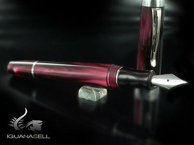 Marlen One Fountain Pen, Resin, Maroon, M14-103-BU , M