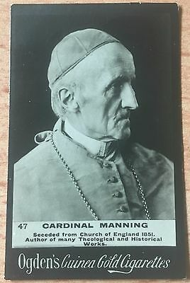 Ogden's Guinea Gold Cigarette Card #47 Cardinal Manning  in Very Good Condition
