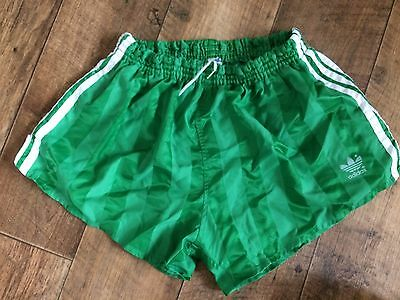 Vintage Adidas Sports Shorts 80s Sprint West Germany Run Green Gland D7 W36