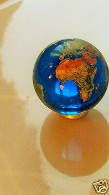 Orrery 35mm Blue Glass Earth Marbles.Globes,Planets,Art,Astrology,Collectables.