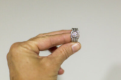 Diamond Engagent Wedding Ring Silver White Gold Valued $19750 SELLING $5500