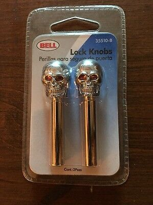 BELL SKULL lock Knobs 35510-8 For Vintage Car Restoration NEW SEALED IN PACK