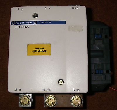 Schneider 3 pole LC1 F265 contactor with 24Vdc coil