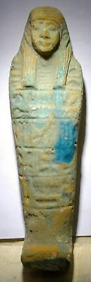 Egyptian Antique, USHABTI Amulet Faience 49 g, 100 mm
