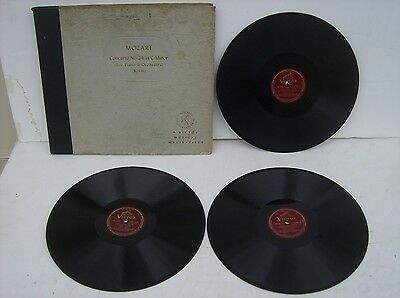 "Vintage 78 RPM Record Album Mozart Concerto #24 London Philharmonic(12"" Victor"