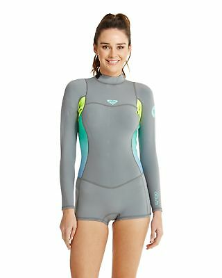 NEW ROXY™  Womens Syncro 2/2mm Long Sleeve Springsuit Wetsuit 2015 Womens Surf