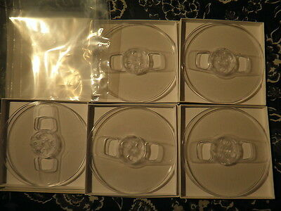 Tape Reels. Boxes, Plastic Sleeves. Lot of 5. ALL NEW Items!! Never Used!! MINT!