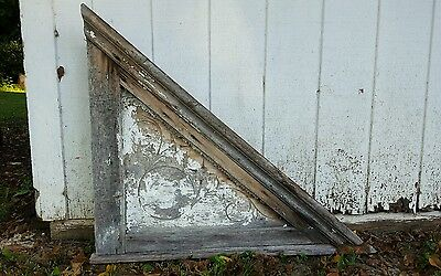 Primitive Corbel Gable End To House or Barn Wood Architectural Victorian