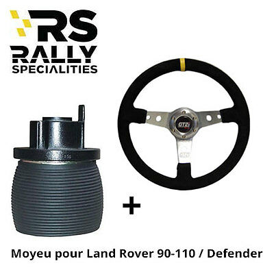 Pack volant tulipé 75 mm + moyeu Land Rover 90 / 110 / Defender 1992-1995