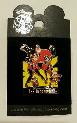 The Incredibles Collection Family Mr Mrs Violet Dash Jack Disney Pin
