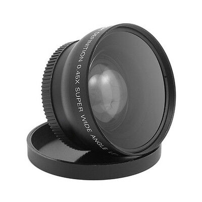 NEW 58mm 0.45x Wide Angle and Macro Lens for Canon EOS 350D/400D/450D/500D/600D