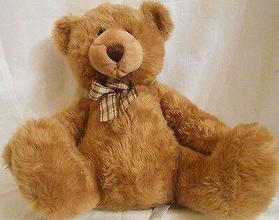 Animal Alley brown bear with plaid bow