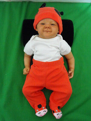 """Natali Blick """"ruby"""" Newborn The First Smile Reborn Doll Limited Ed 700 16"""" Tall"""