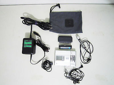Sony MZ-R50 Minidisc Player Recorder MADE IN JAPAN Silver Working