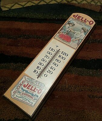 VTG Jello-O Advertising Wall Thermometer 1967 Working Gelatin Temperature Gauge
