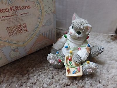 "Calico Kittens ""You Brighten My Holidays"" #178365 Excellent Condition"