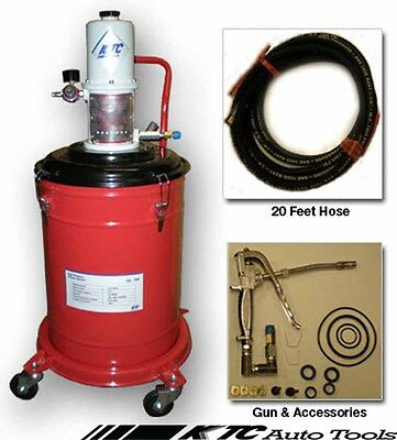 5 Gallons Air Operated High Pressure Grease Pump With 20FT Hose