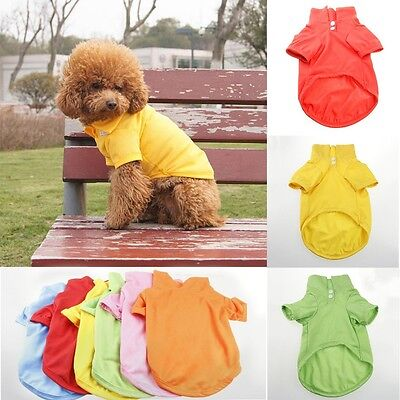 Pet Puppy Summer Shirt Small Dog Cat Pet Clothes Costume Apparel T-Shirt