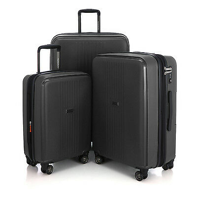 "HAUPTSTADTKOFFER FH 20""24""28"" Luggage Set Suitcase Travel Bag TSA Trolley Black"