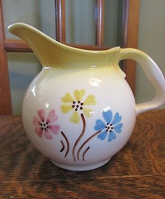 Vintage Hull Pitcher With Flowers