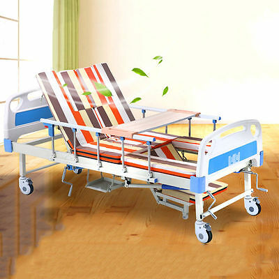 Medical turn-over multi-functional adjustable hospital care bed with Mattress
