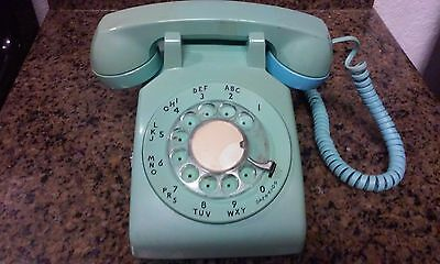 Vintage Green Bell System WESTERN ELECTRIC Rotary Desk Phone Telephone UNTESTED