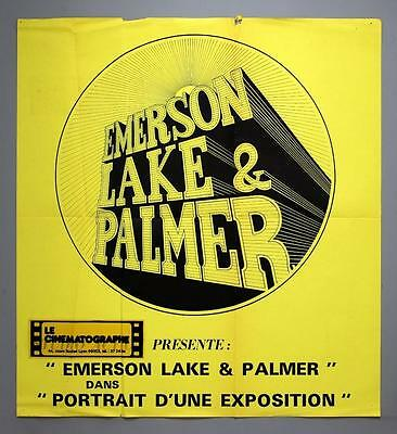 "EMERSON, LAKE AND PALMER - ""Portrait d'une Exposition"" rare French movie poster"