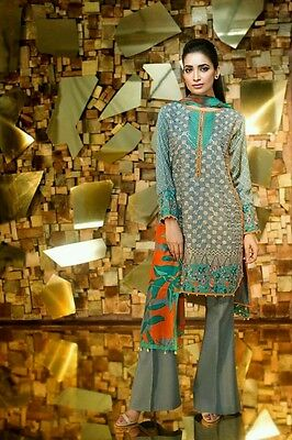 Pakistani Designer Khaadi cambric eid collection 2016 replica! Unstitched Suit!