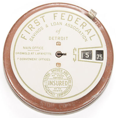 Vintage Add O Bank No Key First Federal Savings And Loan Of Detroit Mechanical