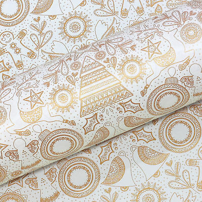NEW Vandoros Mandala Quartz & Gold Wrapping Paper